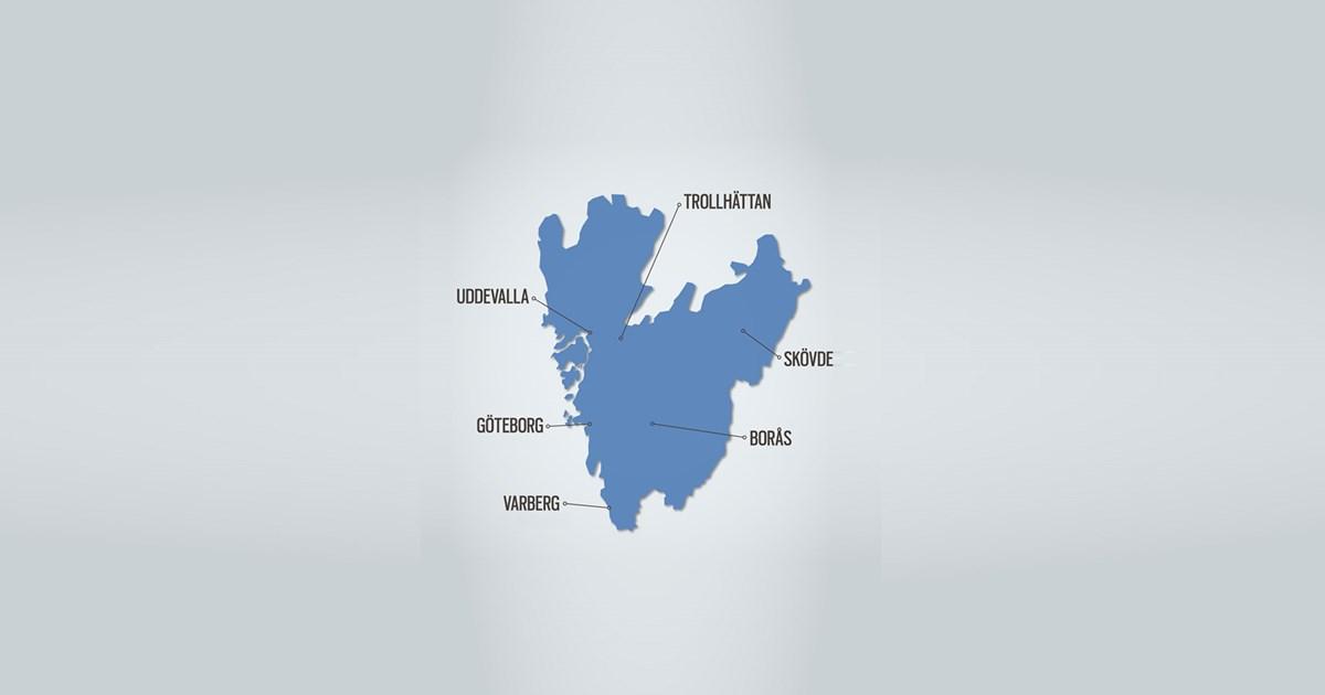 Redigerbar Karta Sverige.Vastsvensk Identitet Vastsvenska Handelskammaren
